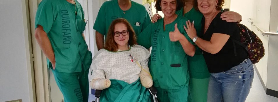Recaudando fondos para ayudar a Sarah Almagro