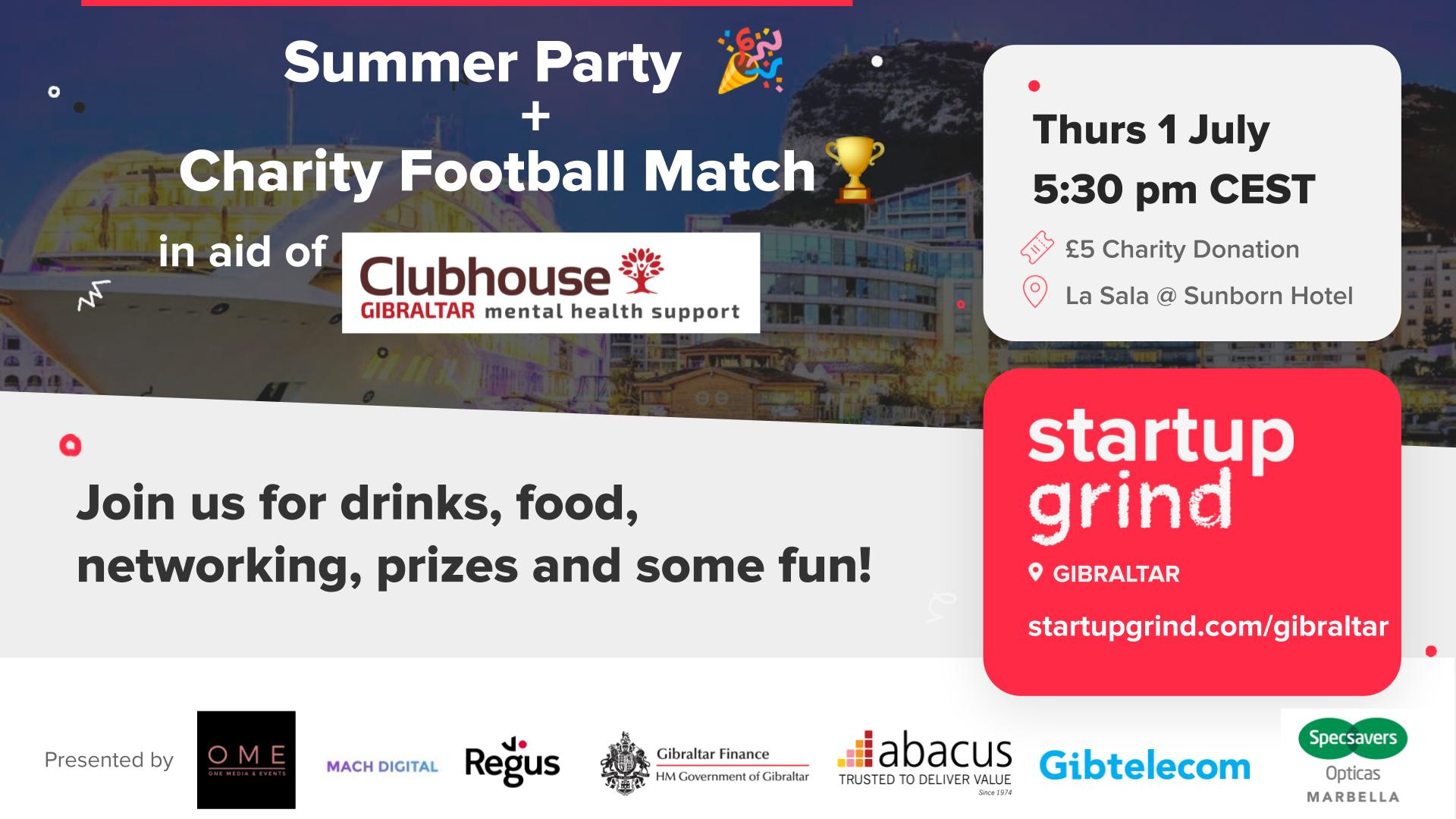 Celebrating the summer and raising funds for Clubhouse Gibraltar